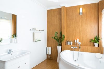 organize bathroom storage